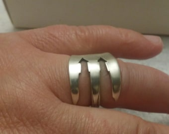 Sterling silver ring made from a pickle   circa 1915. about a size 7 3/4.  R301