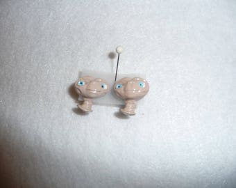 Vintage E.T. Earrings, Original 1982, The Extra Terrestrial Allen, E T