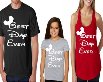 Family Disney Shirts - Best Day Ever Mickey Mouse Ears Disney Matching Shirts for the Whole Family for your Disney Vacation Boys Girls Adult