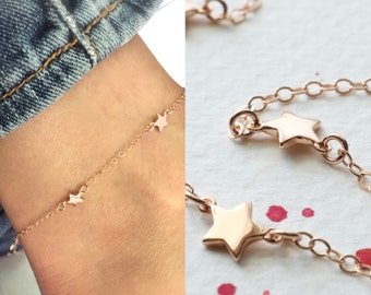 bracelet ankle etsy market il chain anklet layered gold solid