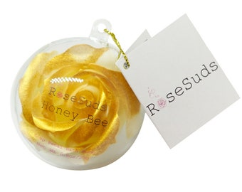 Soap Petal Bath Bomb 'Honey Bee' - (Soap Roses)