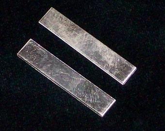 Sterling Silver Tags - 24 Gauge, stamping blanks, metal tags, hand stamping blanks, hand stamping supplies