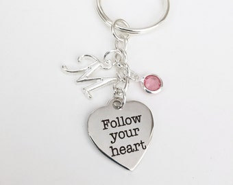 Personalized Follow Your Heart Keychain