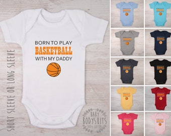 Basketball baby etsy basketball coach gift born to play basketball with my daddy mommy aunt negle Choice Image