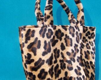 Mini Tote -- Leopard