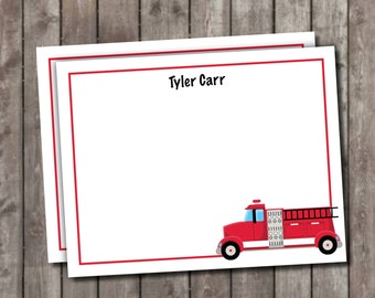 Personalized Fire Truck Stationery