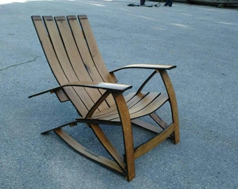 Very beautiful and comfortable chair . Bourbon barrel lounge .