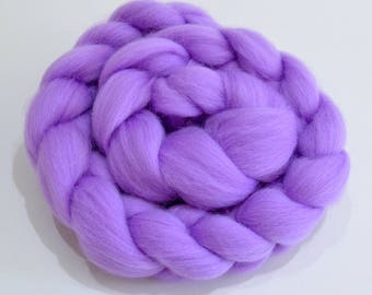 Merino Wool Combed Top - Lavender - Spinning - 100 grams