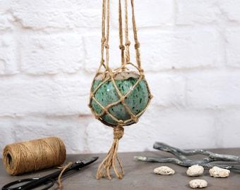 Ceramic hanging planter, ceramic pot, planter pot, pottery planter, hanging plant, plant holder, macrame, garden planter, succulent planter