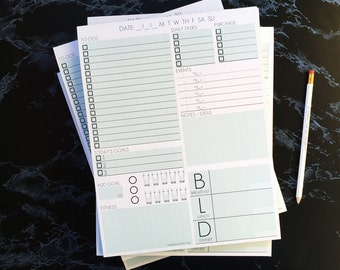 Daily Page Notepad - 12 Pack