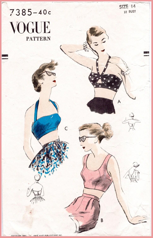 1950er Jahre 50er Jahre Vintage Nähen Muster Repro Ernte oben