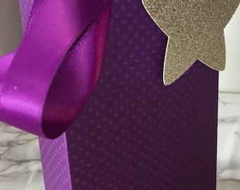 Ramadan gift bag, ramadan purple gift bag, ramadan bag, ramadan favor bag