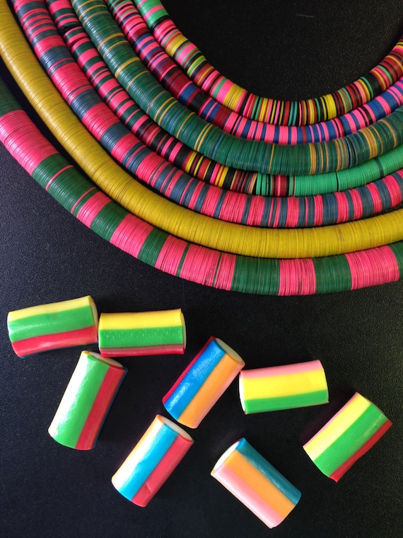 Wholesale Listing Vintage African Vinyl Record Disc Beads