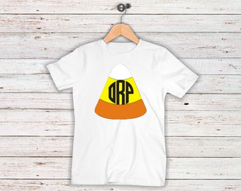 Candy Corn Monogrammed Halloween Toddler/Youth Shirt