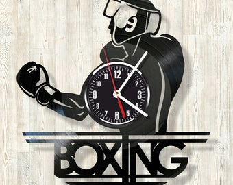 BOXING vinyl record wall clock best eco-friendly gift for any occasion