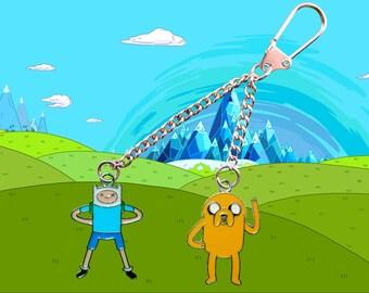 Adventure Time Finn & Jake keychain  Free UK Postage!