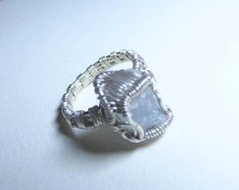 Silver Celestite Ring