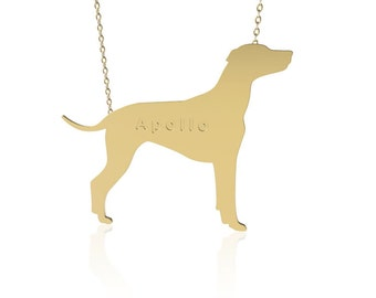 Gold Dog necklace , Dalmatian dog necklace, animal jewelry ,personalized dog necklace, name necklace, engraved necklace