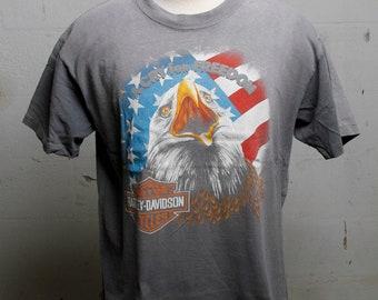 Vintage 90's Harley Davidson Dealer T Shirt Santa Ana California XL
