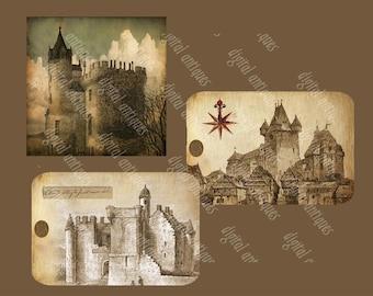 Dreams of Fairytale Castles Tags Digital Download
