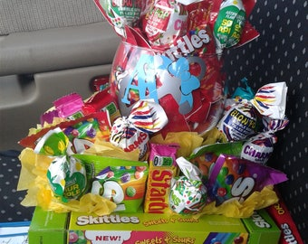 Candy Bouquet with Wine Glass