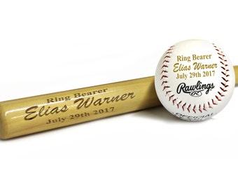 Personalized Baseball Bat - Ring Bearer Baseball Gift, Groomsman Gift, Engraved Baseball Bat - Custom Baseball Bat - Monogrammed Baseball
