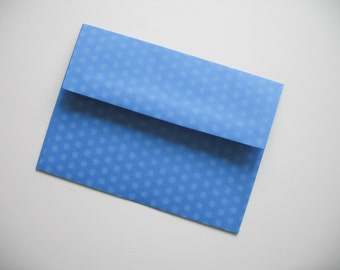 A7 Blue Polka Dot Envelopes - Set of 25 - Perfect for 5x7 Photos or Cards