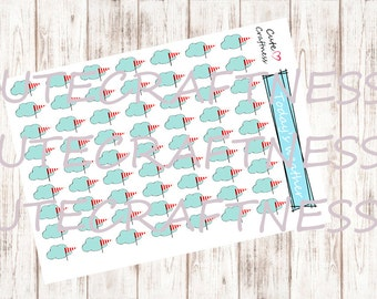 Weather stickers wind perfect for your planner