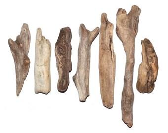 7 Driftwood Pieces, Sea Wood, Natural Drift Wood, Craft Supplies, Driftwood for Crafts, Crafting Supplies