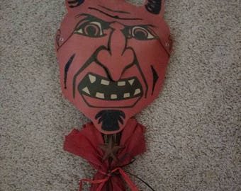 Vintage Halloween devil wreath