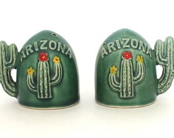 Set of Arizona Cacti Salt and Pepper Shakers Made in Japan