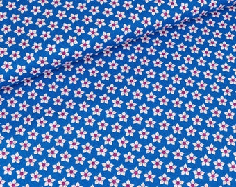 Cotton Little Blossom of blue by Jolijou (11.50 EUR / meter)