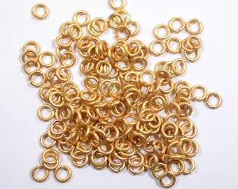 5mm Matte Gold Jump Rings - Choose Your Quantity