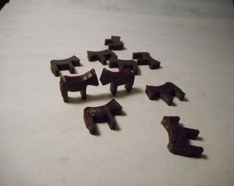 3D Printed Horse tokens 12in a set