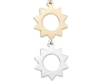 Sun pendant (Silver or Gold tone) [5 pieces]