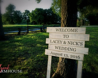 Personalized Wedding Sign / Rustic Barn Wedding / Rustic Farmhouse Wedding / Wedding Welcome Sign / Outdoor Wedding