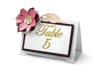 Sizzix - Thinlits Die Set 4 Pack - Table Tent - Floral by David Tutera