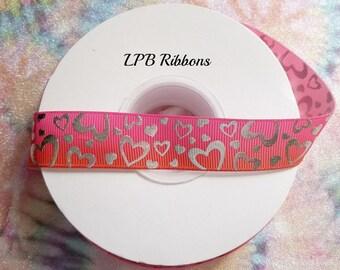 7/8 Ribbon, Ombre Ribbon, Pink Ribbon, Red Ribbon, Ribbon by the Yard, US Designer Ribbon, Grosgrain Ribbon, Valentine Ribbon, Holiday
