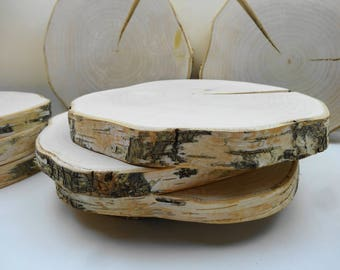 """10"""" -11"""" Wood Slices, Wood Slabs, Tree Rounds, Tree Trunk Slices, Rustic Wedding Decor, Wood Chargers, Table Risers, Tree Slices"""