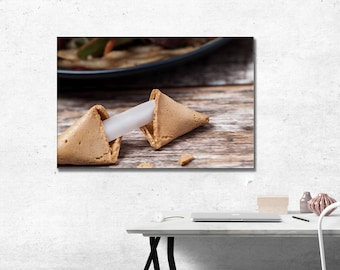 Chinese Fortune Cookie Wall Art Photographic Print, Wedding Gift Idea