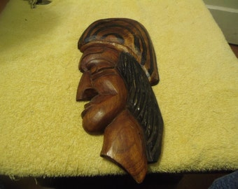 Handmade Rasta Man Wall Hanging Plaque Made Out Of Exotic Wood