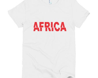 Africa Slice Short sleeve women's t-shirt