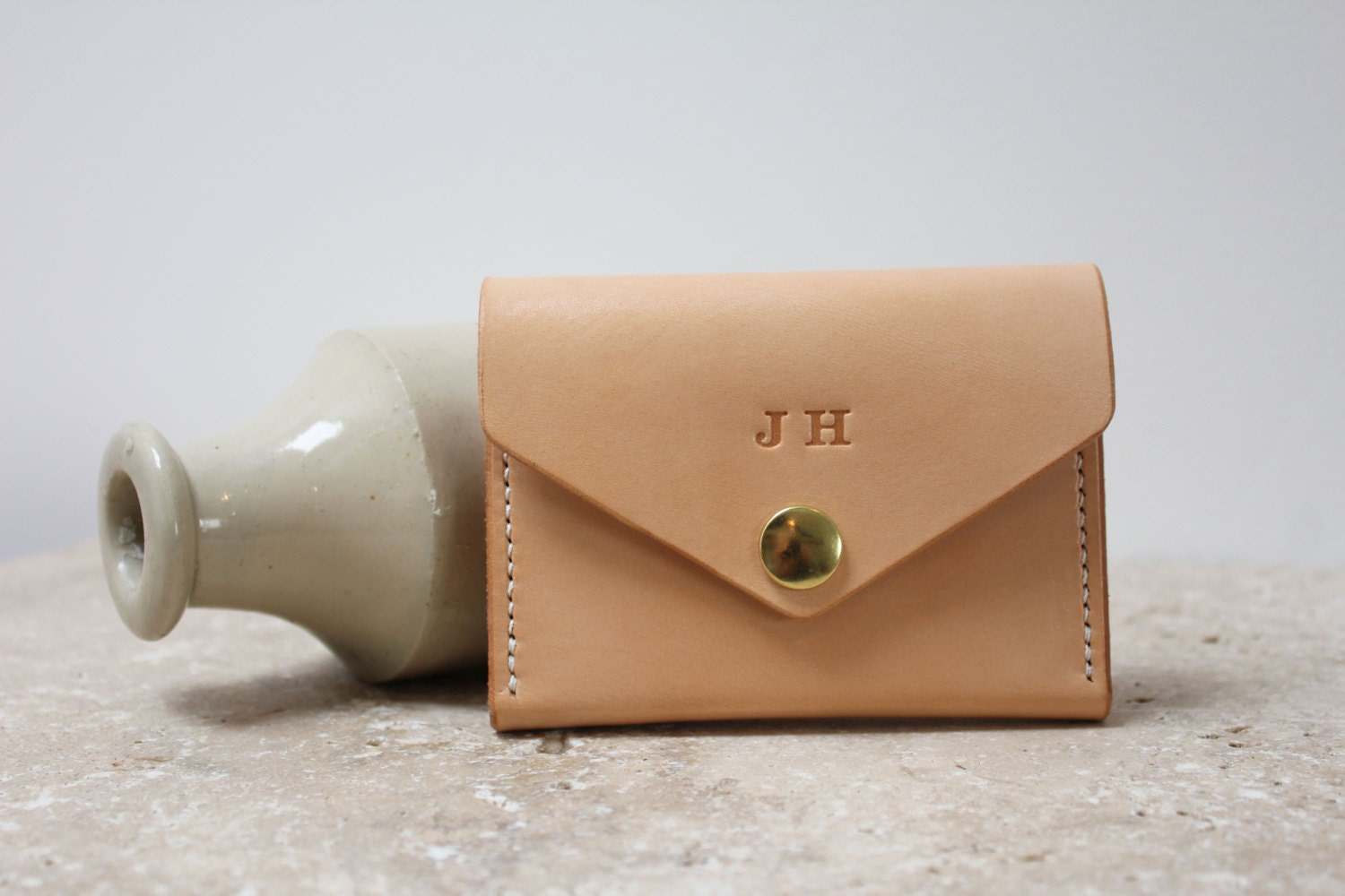 Handstitched minimal leather purse/wallet. Great everyday carry ...