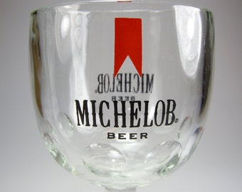 Michelob Beer Glass Goblet, Breweriana, Man Cave Decor, Gifts under 10