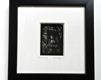 Buddha Art, Framed Photography, Shadowbox Frame, Buddha Wall Art, Home Altar, Asian Art, Framed Print, Asian Decor, Framed Art, 8x8