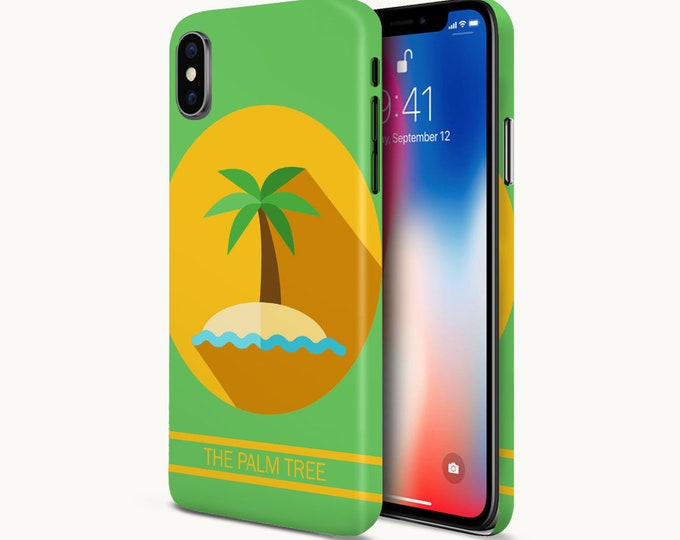 Featured listing image: The Palm Tree Icon Phone Case - Google Pixel II Phone Case - Protective Slim Phone Case - iPhone X Phone Case - Case Escape Phone Case