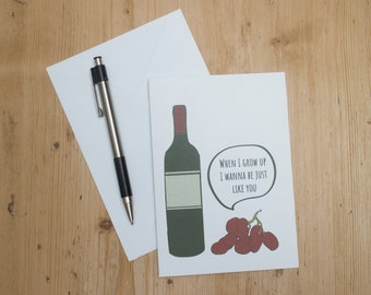 Wine Mothers Day Greeting Card/ Wine Card Mothers Day Greeting Card/ Funny Card/ Funny Birthday Card/ Wine Lover Cards / Funny Wine Card