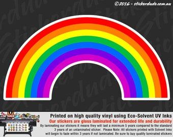 Rainbow Gay Lesbian Pride LGBT Vinyl Sticker Decal for car, ute, 4x4, window