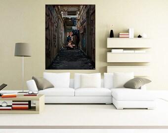 Abandoned #17 [Explicit] - Erotic Photographic Art on Canvas - 120cm x 80cm