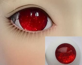 Pupilless Red Doll Eyes for BJD Dollfie 12mm 14mm 16mm 18mm 20mm 22mm